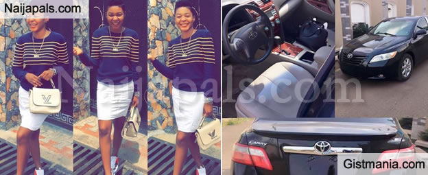 HUMM!!!: 24Yrs Old Lady Buys Herself A Toyota Camry Car To Celebrate Her Birthday Which Got People Talking