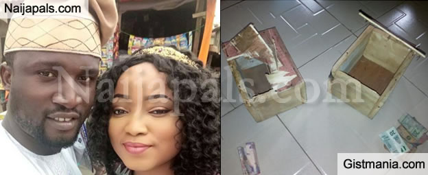 LORD !!!:  After Saving For 7 Months, See What Nigerian Couple Found After Breaking Their Joint Piggy Bank -PIX