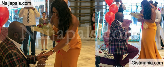 Nigerian Lady In Tears As Her Boyfriend Kneels Down & Proposes To Her On Her Birthday In Dubai – PIX