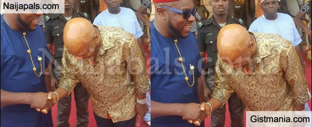 Photos Of Nigeria Billionaire,Arthur Eze Causes Confusion As He Bows