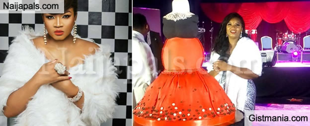 STILL ON THE MATTER: Check Out Omotola Ekeinde's Amazing Birthday Cake For Her 40th Birthday Bash