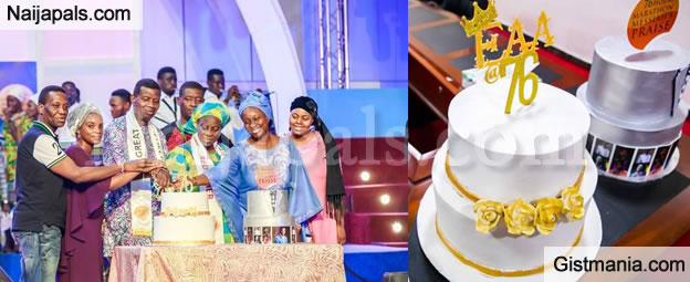 Exquisite Photos From Pastor E.A. Adeboye's 76th Birthday Celebration, And His Cake Is Grand