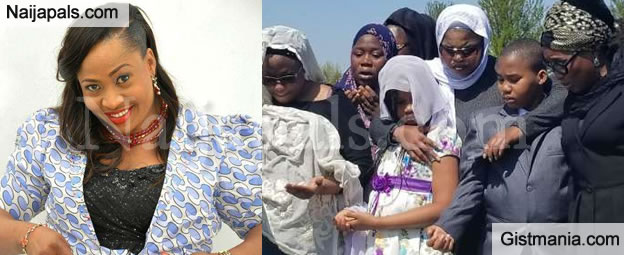 Late Actress Aisha Abimbola Finally Laid To Rest Amidst Tears And Wailing in Canada (Photos)