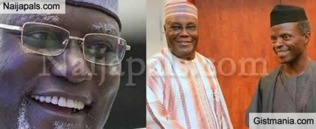BREAKING !!!: Ex-Vice President, Atiku Reacts To News Of Osinbajo Sacking DSS DG, Lawal Daura