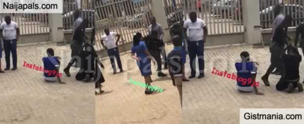 LORD !!!: Fidelity Bank Branch Manager Orders Security To Beat Up Customers For Complaining (Video)