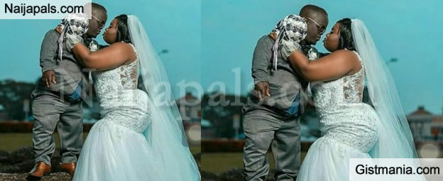 See This Viral Photo Of A Beautiful Bride And Her Dwarf Husband That ...