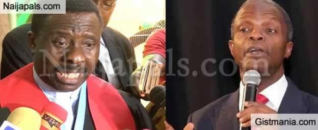 BREAKING !!!:  CAN Reacts To Osinbajo Criticizing Prosperity Preachers