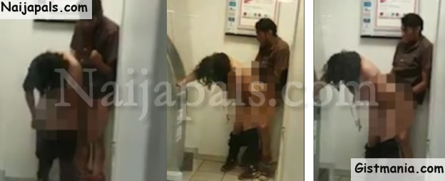 couple having sex outside the bank