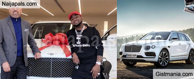 Davido Flaunts His 90Million Naira Bentley Bentayga and N54M Patek Wristwatch (Photos/Video)