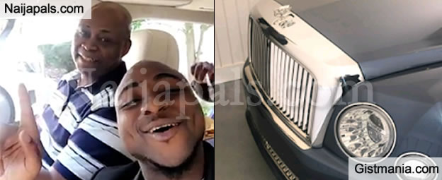 Nice One! Davido Buys His Dad Brand New Bentley To Celebrate