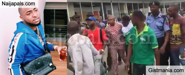 Serious Commotion As Davido's Crew Members Attack Customs, Baggage Check Officials At Lagos Airport