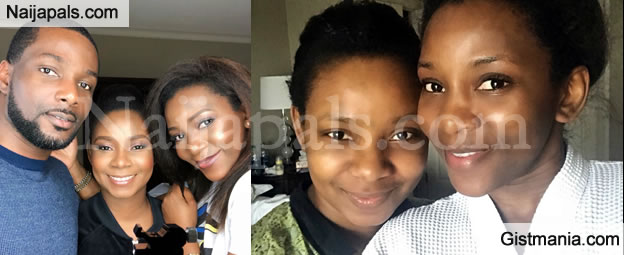 Genevieve Nnaji Share Photos Of Her Brother and Sister in a