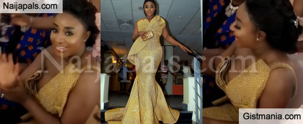 Photos Of Actress Ini Edo Looking All Dazzling At A Wedding Over The Weekend