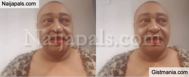 "Hilarious Photo Of Legendary Actor,Jide Kosoko Looking So Much Like ""Bobrisky"" In This Make Up Photo"