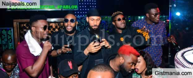 Olamide, Phyno, E-money Attend Nigerian Singer, Kcee 38th Lavish Birthday Party In Lagos (Photos)