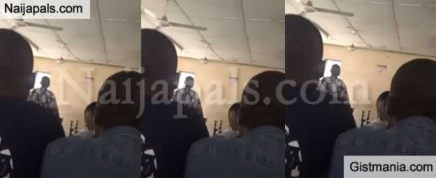 HUH? MAPOLY Lecturer Flogs Grown Up Student For Coming Late To Class (Video)