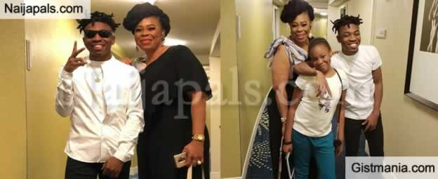 Lovely Photos Of Singer, Mayorkun As He Reunites With His Actress Mum, Toyin Adewale In The US