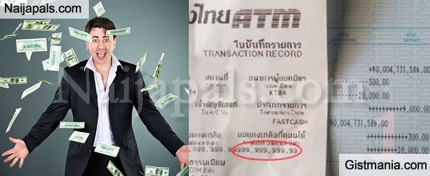 Man Becomes a Billionaire After Bank Mistakenly Credited N11.5 Billion To His Account (Photos)
