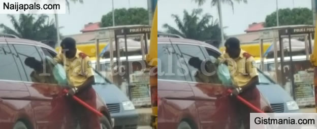 SHOCKING!!!: See Driver Who Made LASTMA Officer Beg For Mercy After Trying To Exploit Him (Photo)