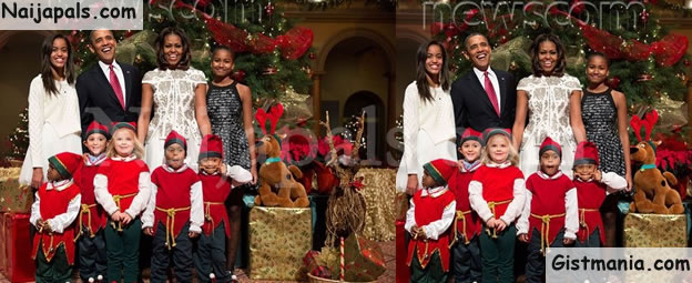 Check Out The Lovely President Obama's Family 2015 Christmas Card ...