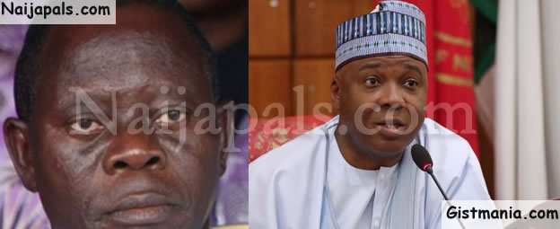 '1 Million Oshiomholes Cannot Remove Me From Office' — Saraki Fumes, Calls Him A Rain-Beaten Chicken
