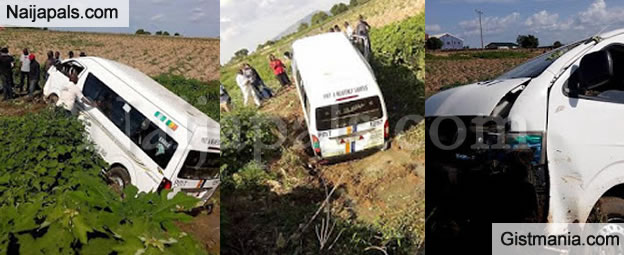 off road bus peace mass transit commercial bus skids off road falls into a