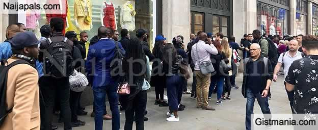 WOW!!!:  Nigeria's New Jersey Sold Out As Hundreds Queue To Buy In London (Photos)