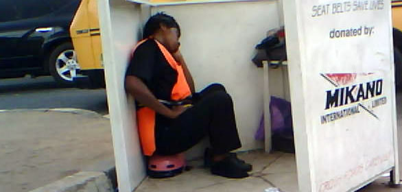 Girls Are Not Smilling: Police Woman Caught Sleeping On Duty