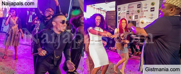 See That Moment Gov. Rochas Okorocha Danced 'Shaku Shaku With #BBNaija Housemates (Photos)