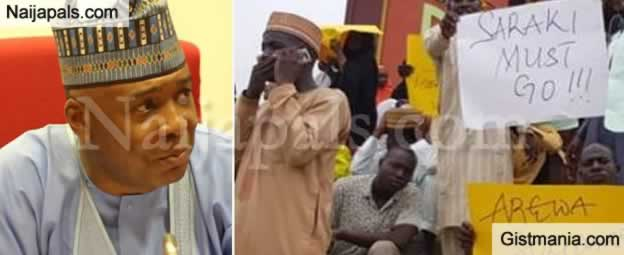 """GO! SARAKI MUST GO"" – Arewa Youths Protest In Kano State (Photos)"