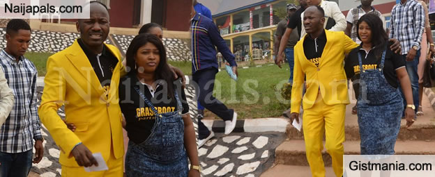 WOW !!!: Pastor Suleman & Wife Show Some Public Display Of Affection Outside The Church After Service -Photos