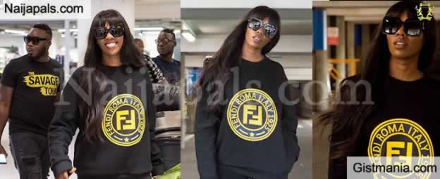 Singer, Tiwa Savage Shares Hot Photos She Arrives London In Style For Her Savage Tour Concert