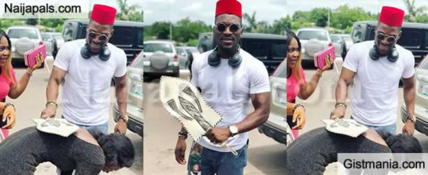 BBNaija Star, Tobi Bakre Conferred With Chieftaincy Title By Fans In Enugu State (Photos)