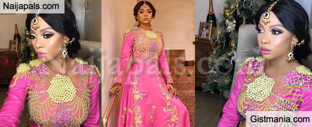 The Wedding Party 2.Toke Makinwa Looks Majestic At The Wedding Party 2 Premier