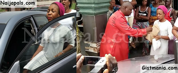 Pandemonium As Woman Uses Her Husband's Car To Sow Seed In A Delta Church (Photos)