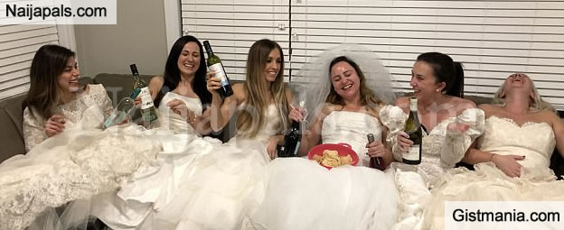 Excited Canadian Woman, Nicole Throws Party In Her Wedding Dress To